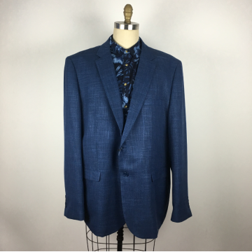 Dark blue Single Breasted Bespoke Business Suit