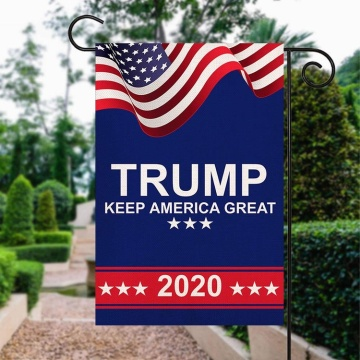 Custom wholesale polyester Donald Trump garden flag
