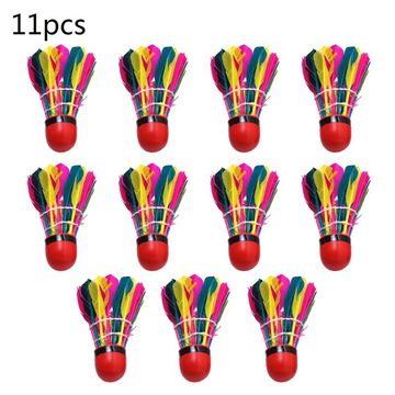 Free shipping 11Pcs/Tube Colorful Badminton Balls Durable Feather Shuttlecock Gym Exercise Sport Training Accessories