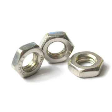 Hex Thin Nuts With Color Zinc Plated Din936