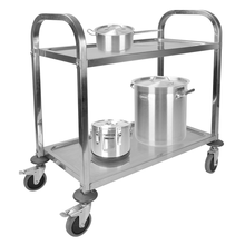 Stainless Steel Two Layer Dining Trolley