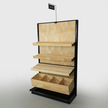 Retail wooden Supermarket Display Rack