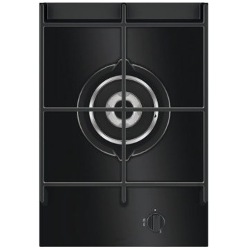 Singe Gas Cooker AEG Black Glass