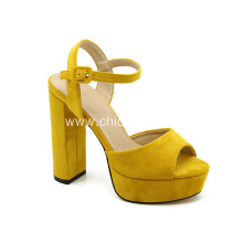 Ladies suede Chunky Heels Sandals Shoes