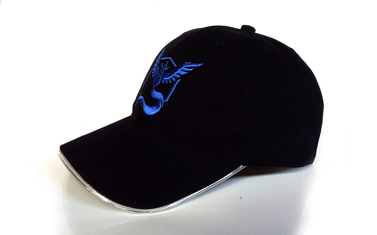 LED fiber optic cap luminous cap baseball cap (5)