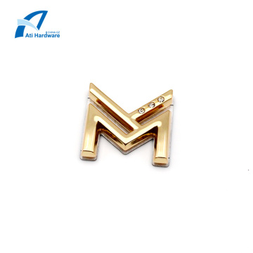 Beautiful Letter Shape Fashion Handbag Decorative Hardware