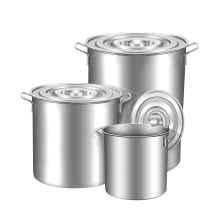 Commercial Stainless Steel Soup Bucket Milk Barrel Soup Pot Large Capacity Kitchen Restaurant Hotel Cookware Cooking Hotpot
