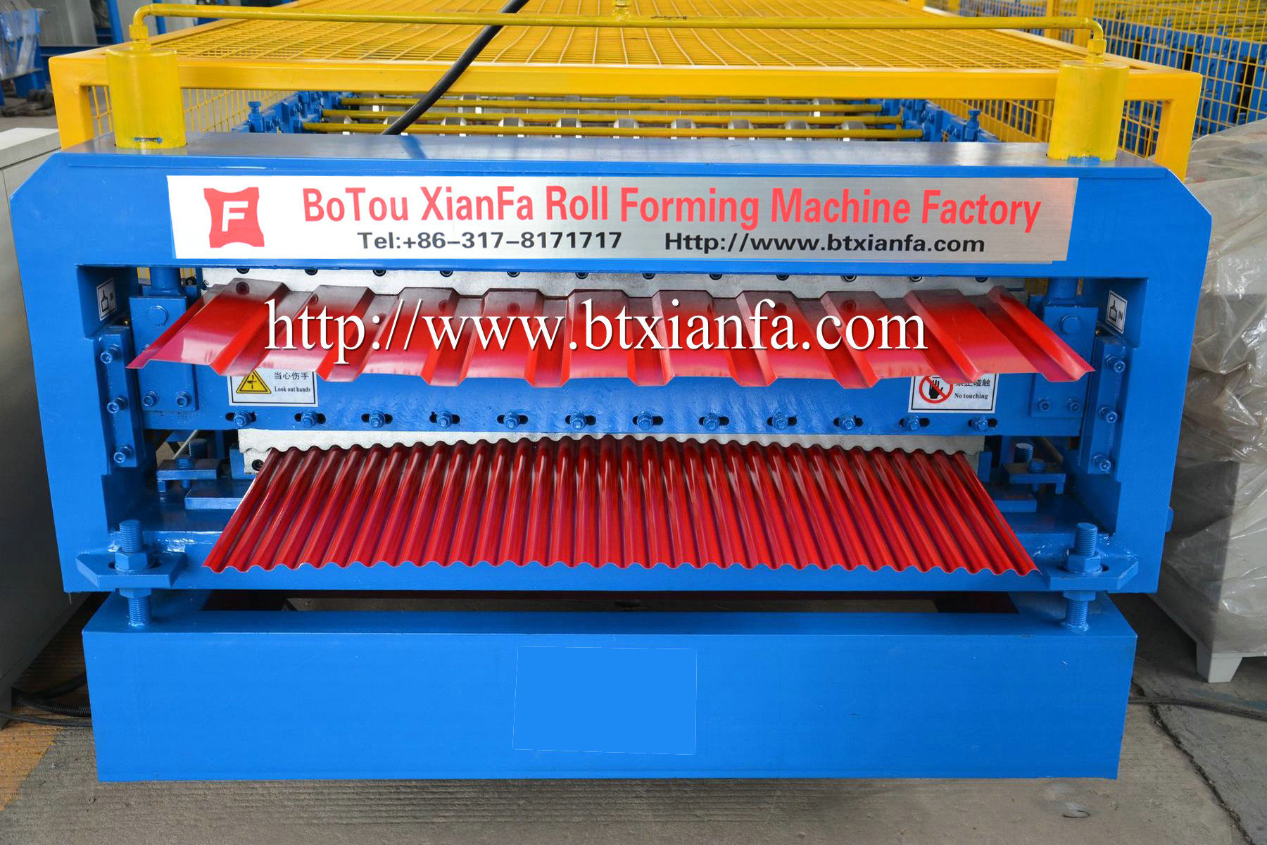corrugated glazed roof tile machine