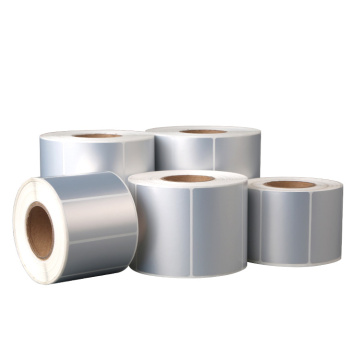 Self adhesive silver matte thermal transfer pvc label