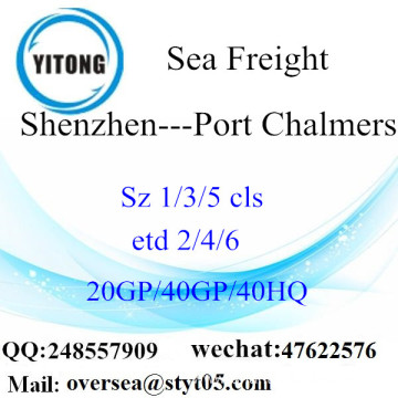 Shenzhen Port Sea Freight Shipping To Port Chalmers
