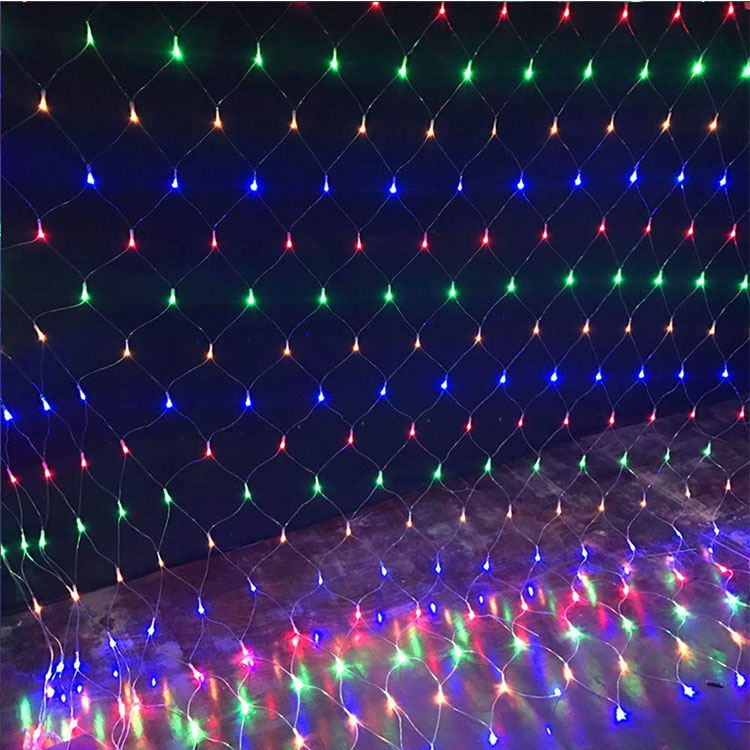 220v christmas battery led net lights