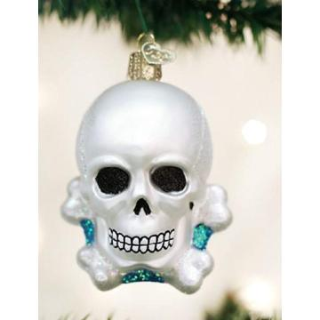 Glass Skeleton Shaped Customized Christmas Halloween Ornaments