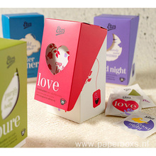 Tea Bag Storage Boxes Cardboard Box with window