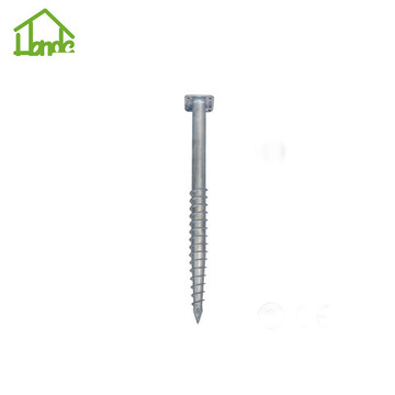 OEM Galvanized screw anchor post