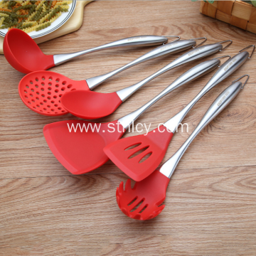 Silicone Stainless Steel Kitchenware Set Of 6 Pieces