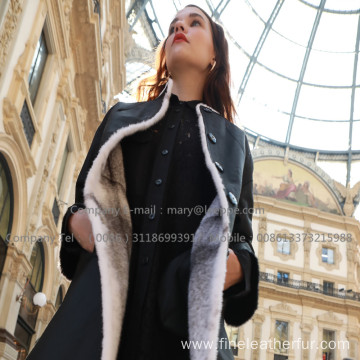 Lady Reversible Cross Mink Fur Coat