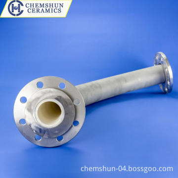 Pre-Fabricated Abrasion Resistant Ceramic Lined Pipe