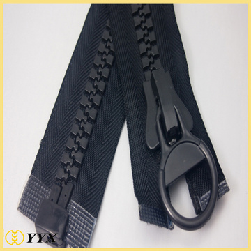 Custom no.10 reversible black plastic zipper for tent