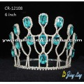 Lake Blue Diamond Party Round Crown