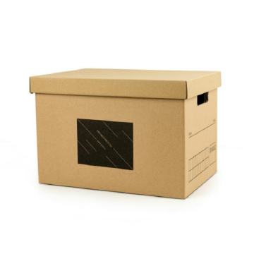 Corrugated Display Box Office Storage Box with Lid