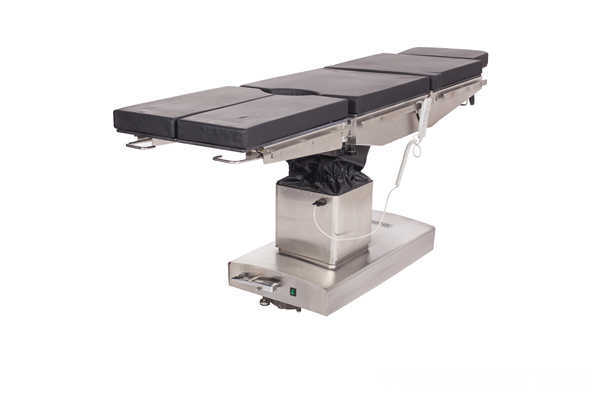 Electric operating table with 5 sections