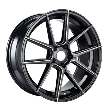 Aluminum Alloy Staggered Rim Black Machined Face