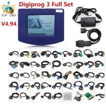 DHL Free digiprog3 newest Digiprog III v4.94 Digiprog 3 v4.94 Odometer Programmer with Full Software full set cables offer