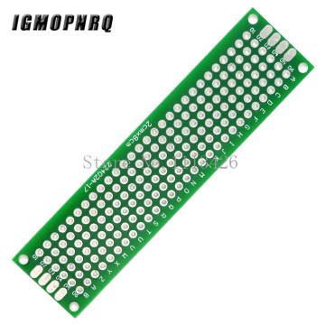 5PCS Double Sided Prototype PCB Breadboard Tinned Universal 2x8 cm 20x80mm FR4 Diy Kit Electronic Board Module Double Sided PCB