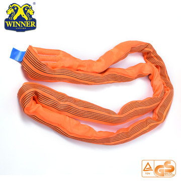 EN1492 Standard Polyester WLL 10 Ton Round Sling For Lifting