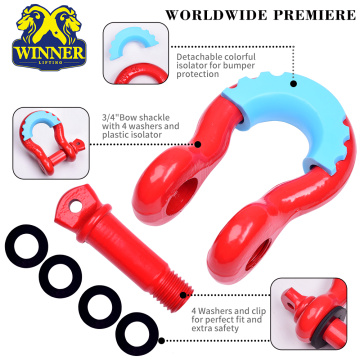 Amazon Good Sales Heavy Duty Forged 3/4 inch 4.75 Tons D Ring bow Shackle for Vehicle Recovery, Towing, Stump Removal