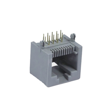 RJ45 Jack 10P10C side entry 1X1P Full Plastic