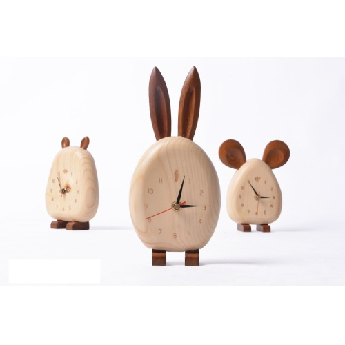 Environmental Protection Wooden Kid Lovely Clock