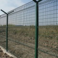 PVC coated green curved wire mesh fence