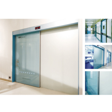 Fast action insulated hospital sliding door