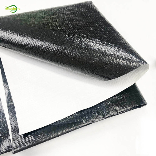 Balck and white plastic film woven panda sheet