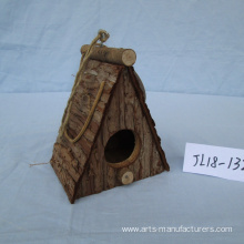 Nature Wood Bark Bird House
