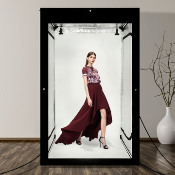 Photo Studio 2M Large Lightbox with 8*LED Dimmable Light Strips Studio Photo Shooting Photo box Tent kit with Backdrop hangbag