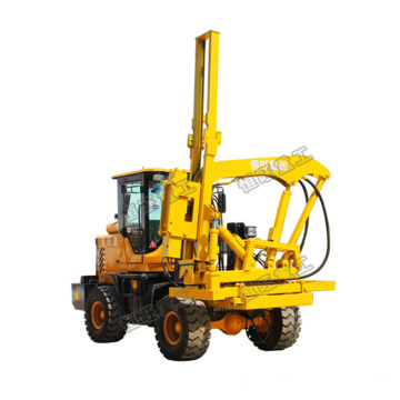 Guardrail installation Loader type pile driver for road