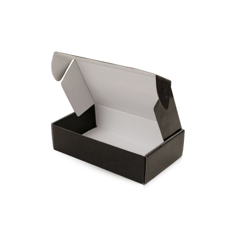 Custom Black Printed E-Flute Cardboard Paper Packaging Box