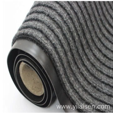 Double ribbed mat polyester surface with PVC backing