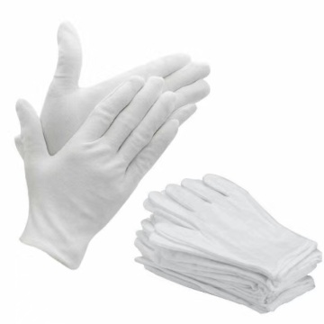 Washable Electronic and Precision Parts Operations White Cotton Gloves