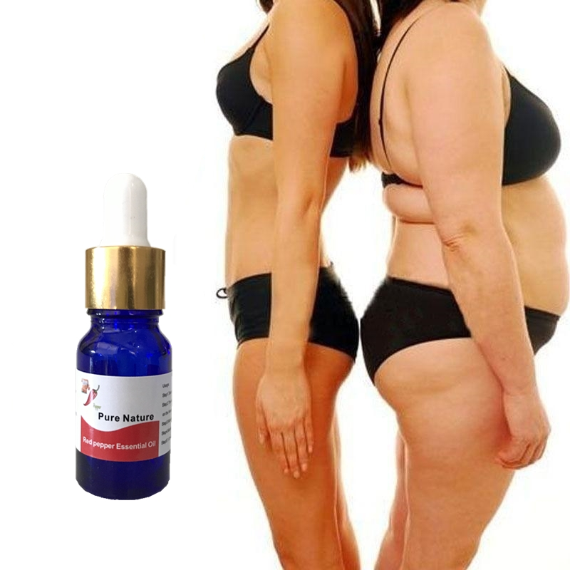 Fresh hot Chili 100% pure Weight Loss essence for fat burning quickly 10ml/Bottle, Lose weight slimming body creams for slimming