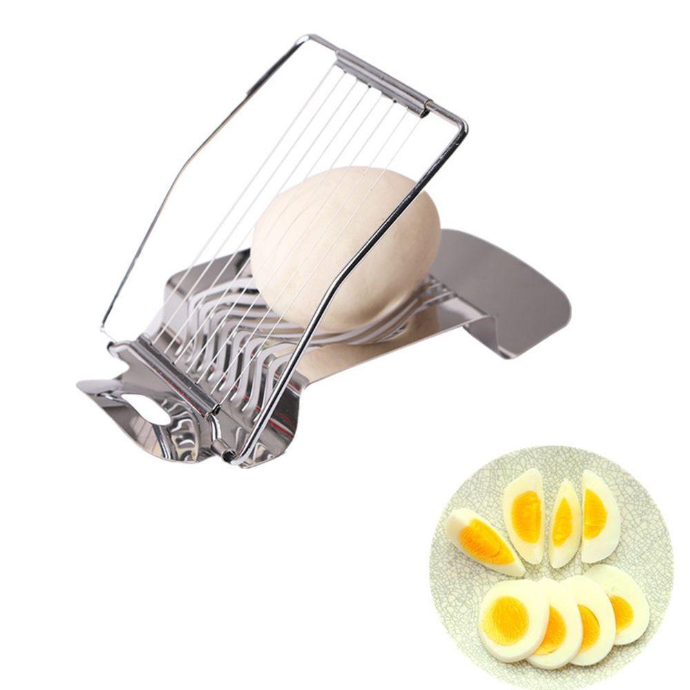 1Pcs Stainless Steel Boiled Egg Slicer Section Cutter Mushroom Tomato Cutter Kitchen Novelty Tool