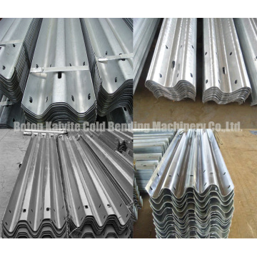 Three Waves Highway Guardrail Cold Roll Forming Machinery