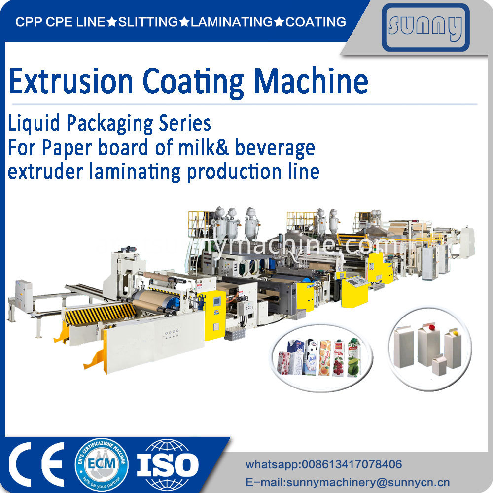 Paper Board Of Milk Beverage Extruder Laminating Production Line