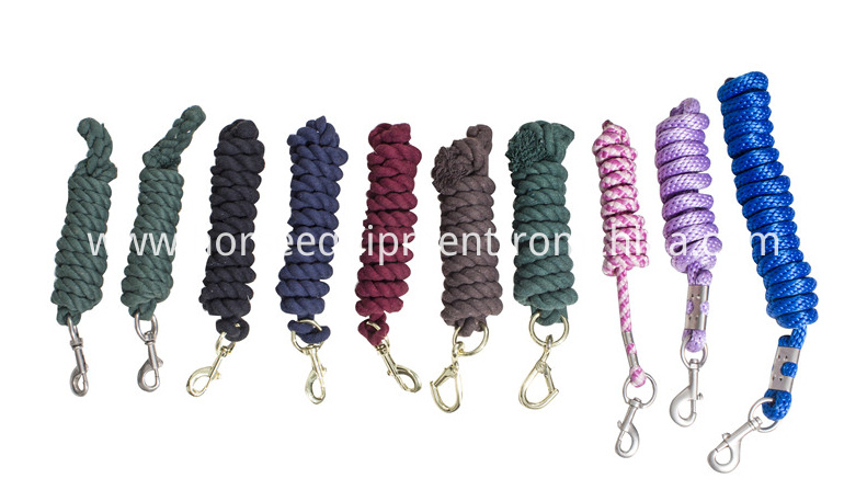 Various horse lead rope