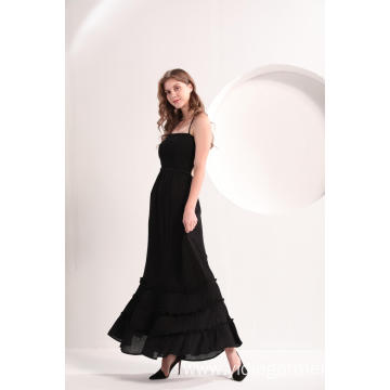 Women's Black Beach Casual Maxi Dress