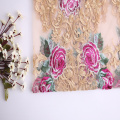 High Fashion Multicolor Rose Flower Embroidery Fabric
