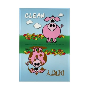 Funny Babies Clean Dirty  Dishwasher Rectangle Magnet