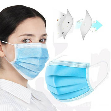 Mouth Nose Cover Respirator Protector Blue/White Face Mask